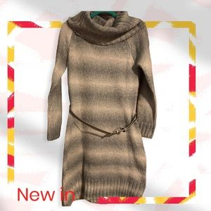 The Limited Cowl Neck Sweater Dress-LARGE